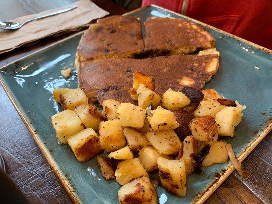 Potato choco pancakes