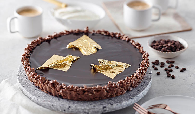 Chocolate Tart with Coffee Granité