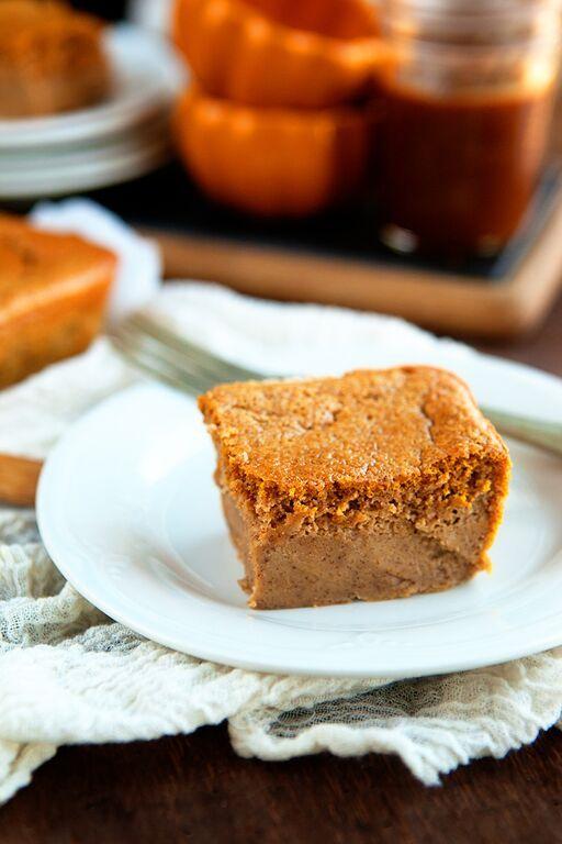 Pumpkin custard cake