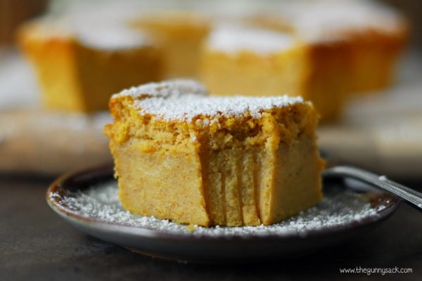 Pumpkin custard cake