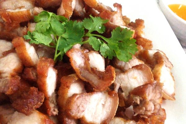 Roasted pork belly with fish sauce