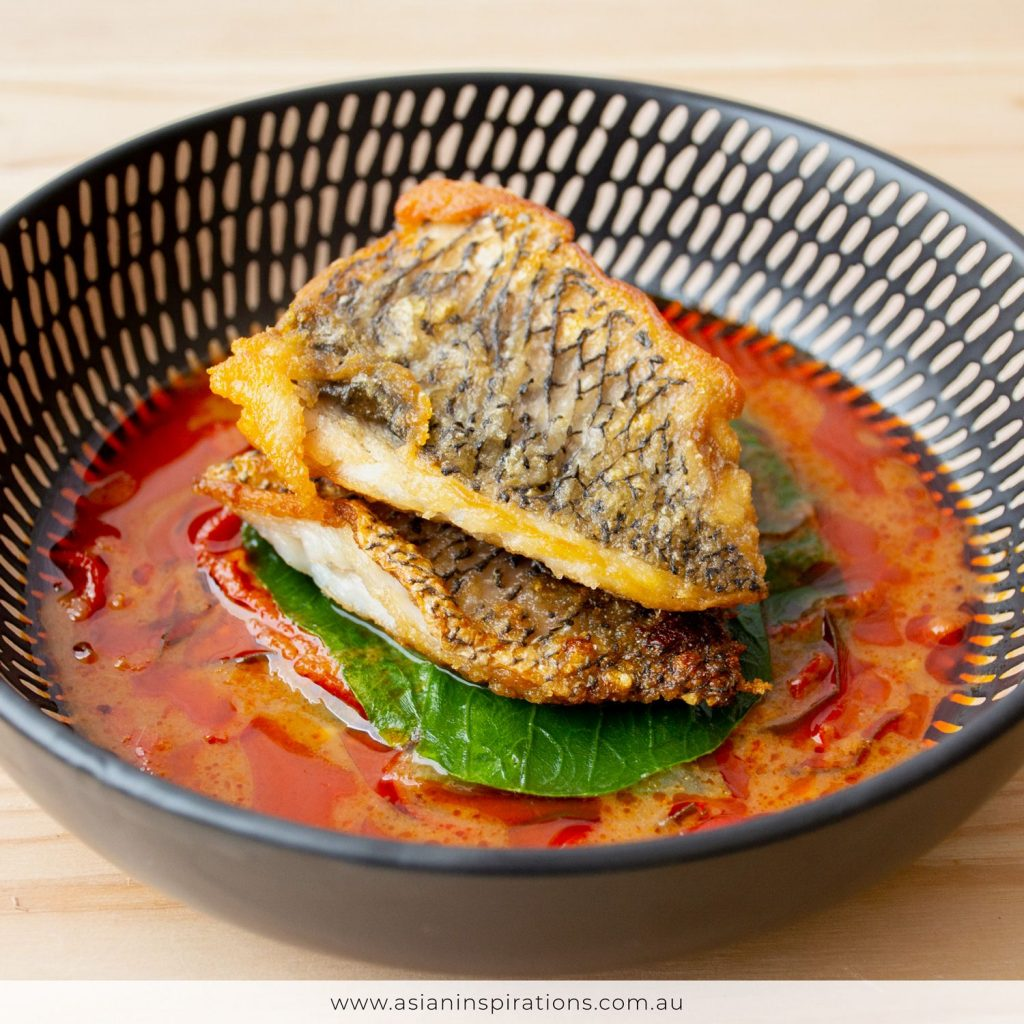 Sea bass red curry